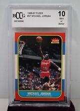 1986 Fleer Basketball Michael Jordan ROOKIE RC #57 BCCG 10 (MUST SEE) 🔥📈