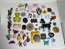 Vintage Mixed Lot of Patches Poodles Disney Mickey Princess Animals Flower
