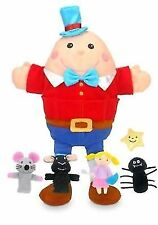 Fiesta Nursery Rhymes Plush Hand Puppet Set With 4 Finger Puppets 32cm