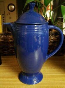 Fiesta Vintage Cobalt Coffee Pot with Lid FREE SHIP