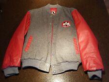 Disney Mickey Mouse Club Letterman Varsity Jacket Leather 1994 Vintage Adult L