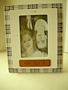 """Picture Frame By Young's, The Girls Theme, 9"""" x 7"""", Wood, Brand New"""