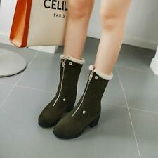 2020 Winter Casual Womens Round Toes Block Heels Ankle Boots Shoes Outdoor