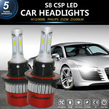 252W Philps 25200LM LED Headlight H13 9008 High Low Beam Bulbs 6000K For Ford US