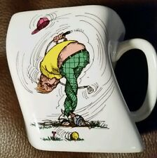 Golf coffee mug tea The results of over-swing twisted cup club ball tee bag rare