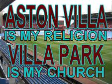aston villa is my Religion villa Park is my Church Sign, metal Aluminium