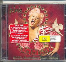 PINK RARE I'm Not Dead 2007 Australian LIMITED TOUR EDITION CD DVD 2 Disc