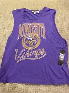 Womens vintage Minnesota Vikings football sleeveless shirt XL new $30