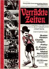 Verrückte Zeiten ORIGINAL A1 Kinoplakat Charlie Chaplin / Buster Keaton / BONNE