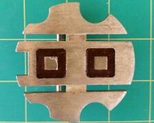 VTG- MODERN ABSTRACT BRASS BUCKLE☆PAT.PENDING☆CANADA☆HTF/RARE☆