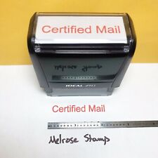 New Listingcertified Mail Rubber Stamp Red Ink Self Inking Ideal 4913