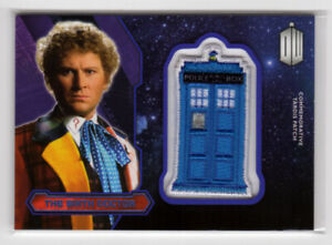 Topps Doctor Who 2015 The Sixth Doctor Purple Parallel Tardis Patch Card 97/99