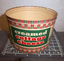 Vintage Creamed Cottage Cheese Container NEW Unused Graphics Colors