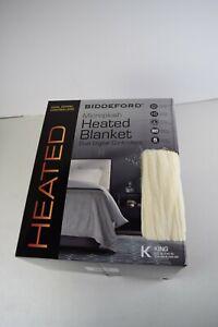 BIDDEFORD Heated MICRO PLUSH Electric Blanket DUAL DIGITAL controller-King/White