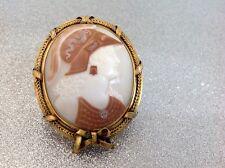 Gemme Muschelgemme - Rarität - antik -18 kt gold cameo brooch rare