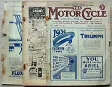 The MOTOR CYCLE Magazine 8 Jan 1931 2 Stroke Maintenance NEW IMPERIAL TEST