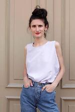 Maria Bellesi Damen Shirt Top lila flieder 80er True VINTAGE 80´s women elegant