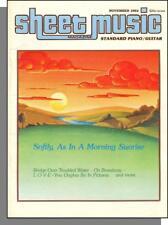 Sheet Music Magazine (Standard Piano/Guitar) - 1984, Nov, Bridge Troubled Waters