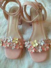 LADIES GORGEOUS PINK FLORAL SANDALS FROM DOLCIS SIZE 4