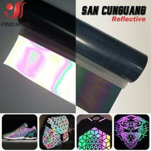 Reflective Rainbow Heat Transfer Vinyl T-shirt Iron On Film Heat Press Craft DIY