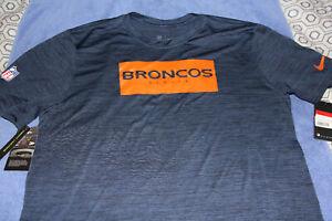 Denver Broncos Shirt Nike Mens Large Legend Velocity Tee NFL On Field Apparel
