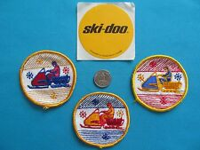 TOURING VINTAGE SKI-DOO RACER SNOWMOBILE STICKER DECAL PATCH CREST