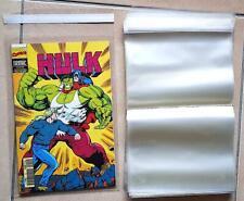 50 POCHETTES PLASTIQUE 28 x 19 CM DE PROTECTION pour BD comics, marvel, strange
