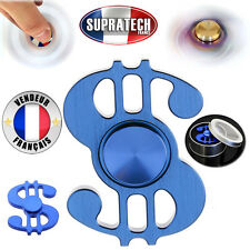 Toupie Anti Stress Hand Spinner Format Dollar USA Argent Roulement Billes Rapide