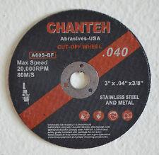 "50pcs 3 inch x.040""x3/8"" CUT-OFF WHEELS INOX for SS & Metal Cutting Disc"