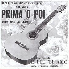 """7"""" ITALY  - FRANCESCO (FRANCO) BATTIATO - """"E PIÙ TI AMO"""" - PRE BEAT - TOP RARE"""