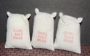 3 (three) 50 LBS FOOD SACKS(Salt, Flower,Sugar)1:18-1:24 (G) Scale