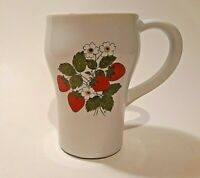McCoy USA Pottery Strawberry Coffee Mug Country Style Tall Vintage