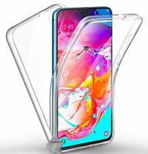 Housse etui coque gel 360 integrale Samsung Galaxy A70 + film ecran - TRANSPAREN