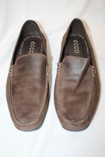 ECCO Men's Classic Driving Mocs,Brown Leather,Arch Support,Mens Size 44/US 10-B9