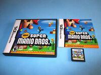 New Super Mario Bros. (Nintendo DS) Lite DSi XL 3DS 2DS w/Case & Manual