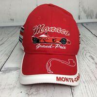 Monte Carlo Monaco Red Cap F1 Racing Grand Prix FANS Embroidered Strapback Hat