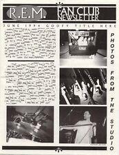 R.E.M. Fanclub Newsletter June 1994