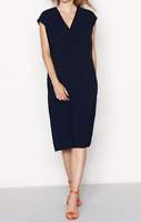 New J by Jasper Conran Navy Crepe Flattering Shift Dress RRP £55 Now £27.50