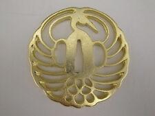 Japanese Sword Collar- Tsuba (Crane Watermark)