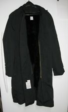 US Military-Army Men's Black Raincoat Trench Coat W/Removable Liner-Sz 38 L