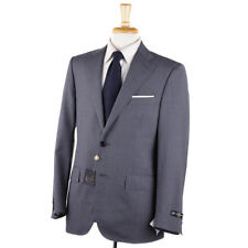 NWT $1975 CORNELIANI Classic-Fit Gray and Sky Blue Stripe Wool Suit 38 R