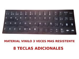 Pegatinas Teclado Español Adhesivo etiquetas PC o Portátil spanish stickers