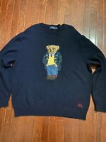 NWOT Mens Polo Ralph Lauren Toggle Coat Bear Knit Sweater Navy Big & Tall 3XB
