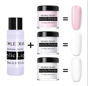 Secret Liquid Monomer + Acrylic Nail Powder Professional Nail System