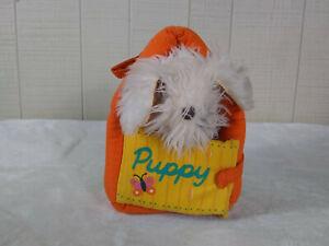 Vintage 1977 Fisher Price Puppy & Playhouse Stuffed Animal Plush Soft Toy #110