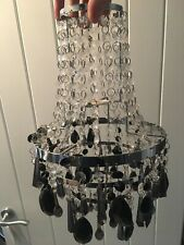Clear And Black Crystal Lamp Shade - Great Condition