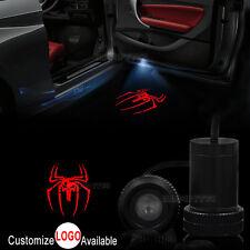 2x Car Door Red Spiderman Punisher Skull Logo LED Laser Projector Shadow Light