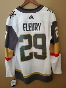 New (46) Marc Andre Fleury Adidas mens SM jersey white Las Vegas Golden Knights