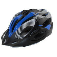 Cycling Bicycle Adult Mens Bike Helmet Red Carbon Color With Visor Mountain 47 Blue