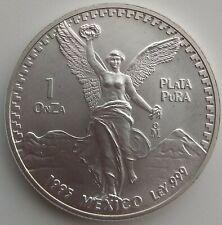 1995  Mexican Libertad 1 Onza Plata Pura